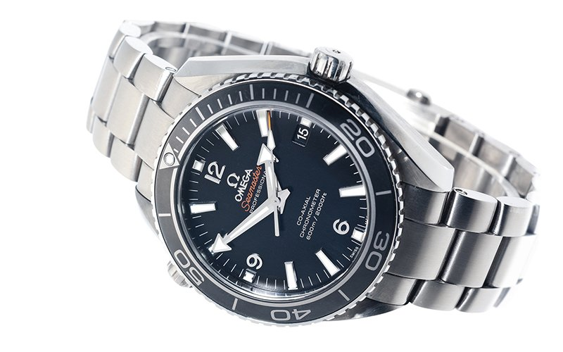 Actor Daniel Craig wore this exact watch as James Bond in the 2012 Eon Productions movie, Skyfall. Titanium 42mm Seamaster Planet Ocean wristwatch, sold by Christie's in its special 50th Anniversary 007 auction, October 2012.