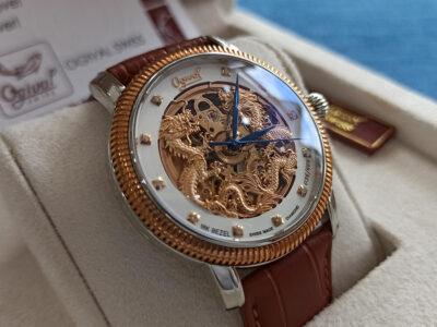 Đồng hồ Ogival chính hãng Song Long, Niềng vàng 18k OG358-18.652AGSR-GK 3